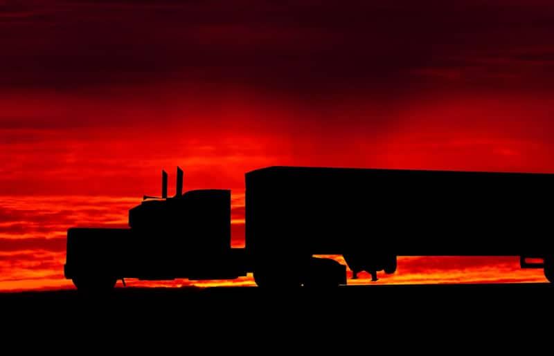 Freight Truck in Sunset - Logistics